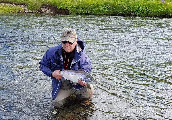 Laxveiði, Kirkjubólsfljót, salmon fishing, lax-a.is